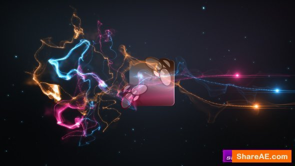 Videohive Colorful Trails Logo Intro