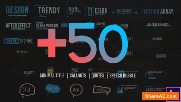 Videohive +50 Motion Titles Pack