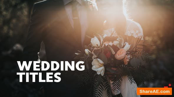 Videohive 50 Wedding Titles