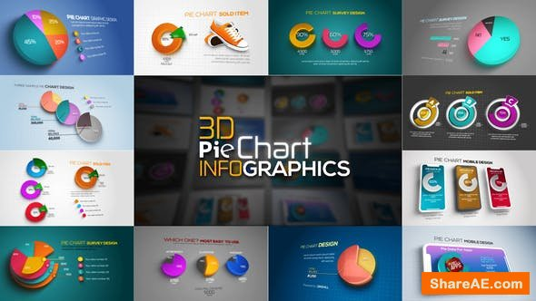 Videohive 3D Pie Chart Infographics