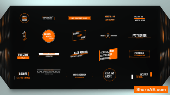 Videohive  Just Titles