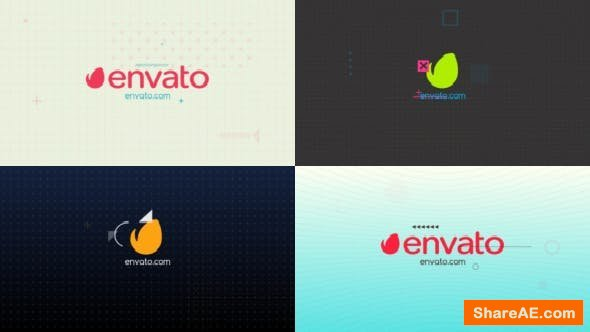 Videohive Colorful Glitch Logo