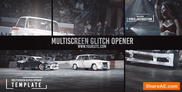 Videohive  Multiscreen Glitch Opener/Reel