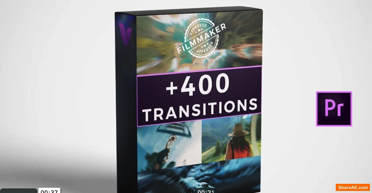 400+ Transitions for Premiere Pro (Win/Mac)