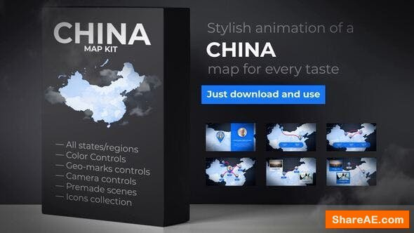 Videohive  China Map - People's Republic of China Map Kit