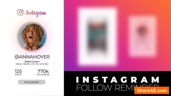 Videohive Instagram Follow Reminder
