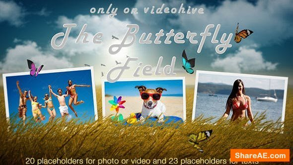 Videohive Photo Slideshow - Butterfly Field