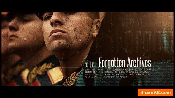 Videohive The Forgotten Archives