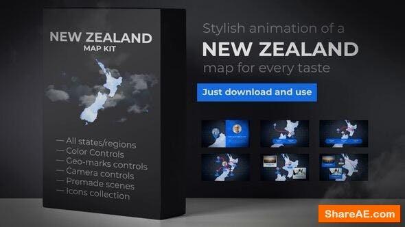 Videohive New Zealand Map - Aotearoa NZ New Zealand Map Kit
