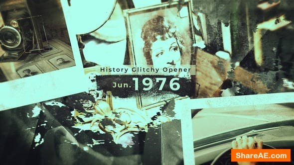 Videohive History Glitchy Opener