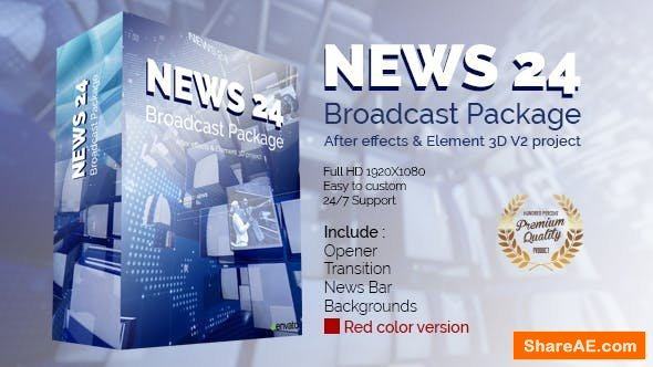 Videohive News 24 Broadcast Package