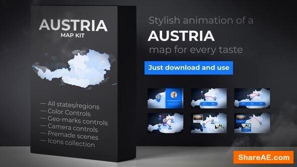 Videohive Austria Map - Republic of Austria Map Kit