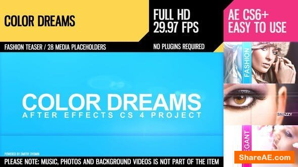 Videohive Color Dreams (Fashion Slideshow)