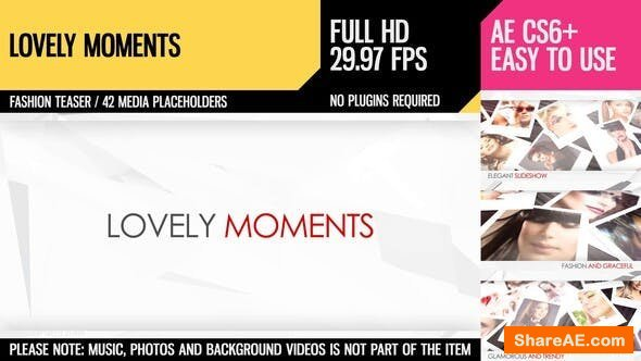 Videohive Lovely Moments 3195424
