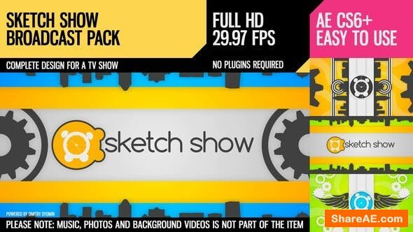 Videohive Sketch Show (Broadcast Pack)