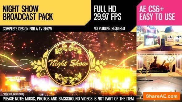 Videohive Night Show (Broadcast Pack)