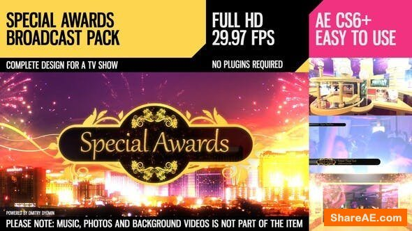 Videohive Special Awards (Broadcast Pack)