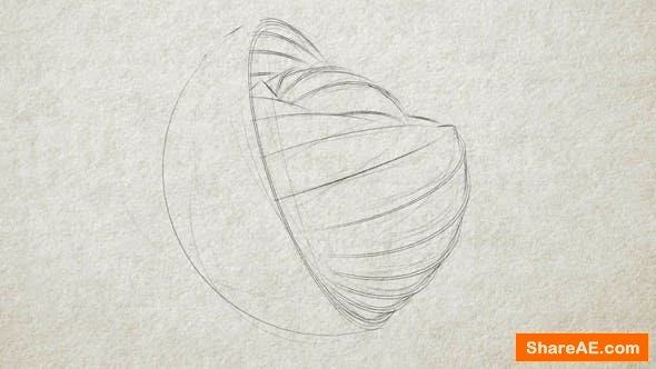 Videohive Pencil Sketch - Logo Reveal
