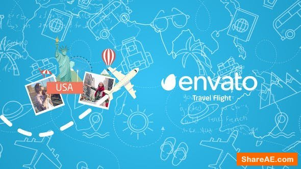 Videohive Travel Flight Logo