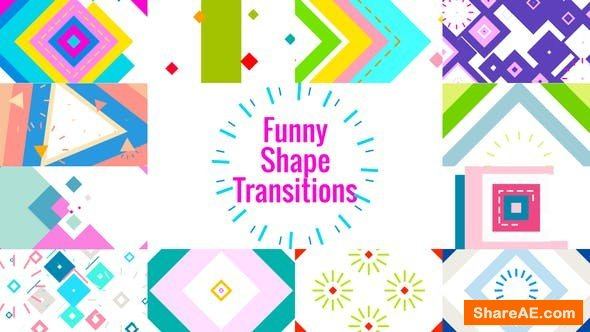 Videohive Funny Shape TransitionsAE