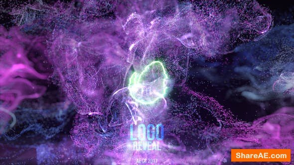 Videohive Neon Fluid Particles Reveal