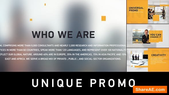 Videohive Unique Promo v1 | Corporate Presentation