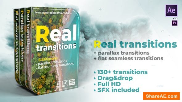 Videohive Real transitions