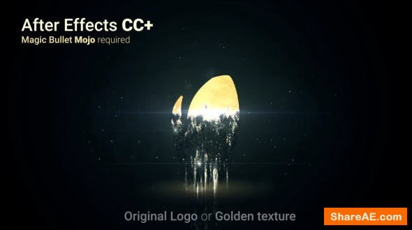 Videohive Shattered Golden Logo