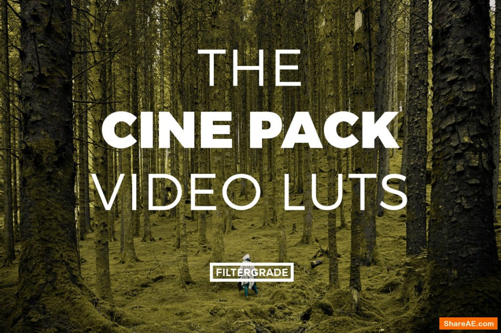 The Cine Pack Video LUTs