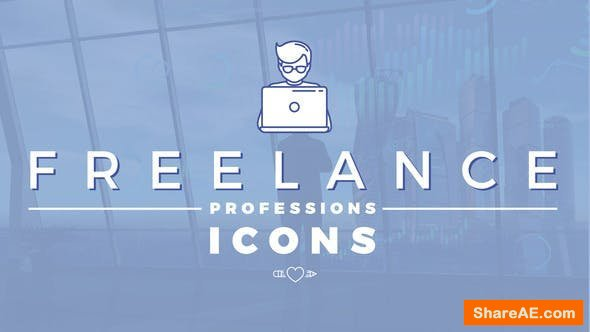 Videohive Freelance Professions Icons