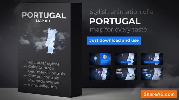 Videohive Portugal Map - Portuguese Republic Map Kit