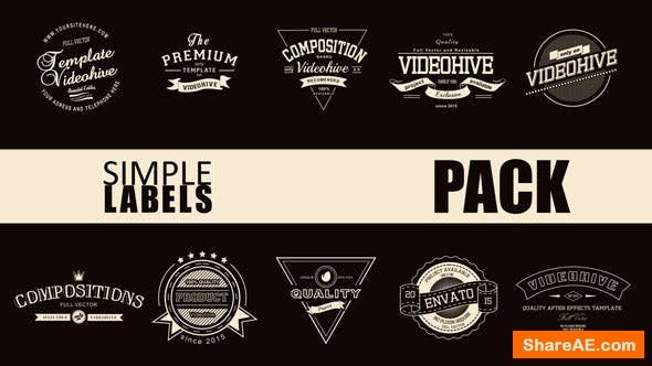 Videohive Simple Label Pack
