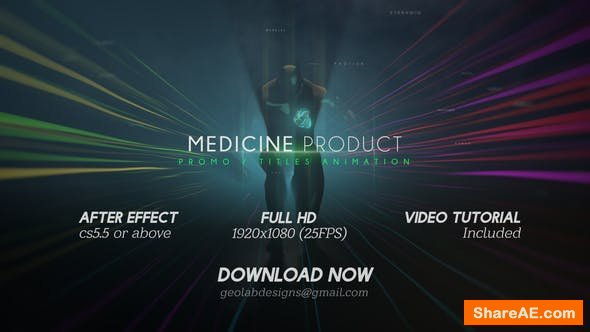 Videohive Medicine Product Promo / Titles Animations / Human Titles