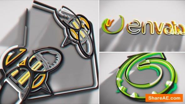 Videohive Colorful Stroke Logo Intro