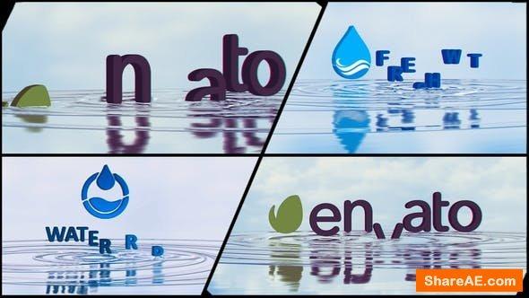 Videohive Corporate Logo V21 Water Ripples Emerge
