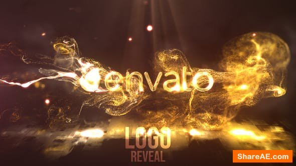 Videohive Gold Fluid Flame Reveal