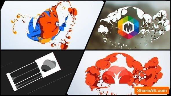 Videohive Liquid and Smoke Hand Drawn Logo Reveals