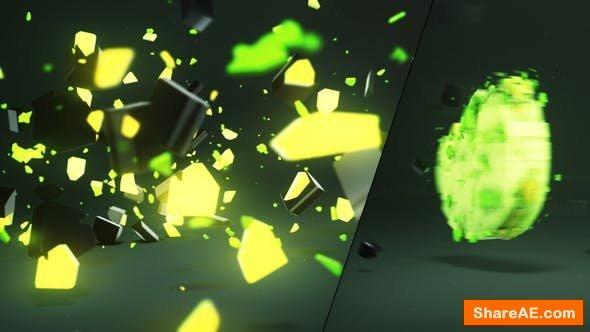 Videohive 3D Light Shatter Logo