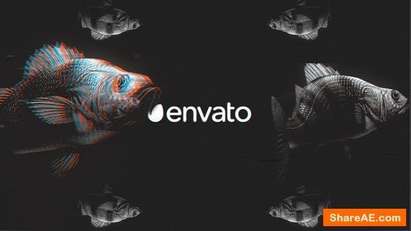 Videohive Fish Glitch Logo Reveal