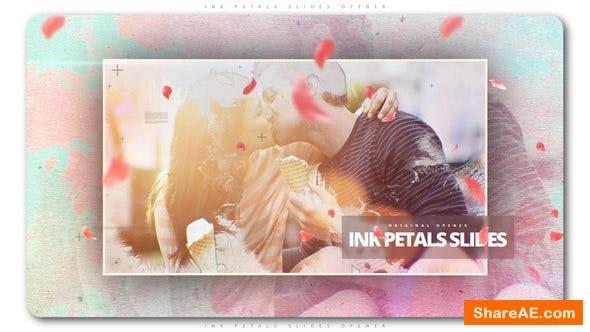 Videohive Ink Petals Slides Opener