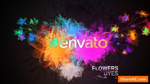 Videohive Flowers and Dyes Intro