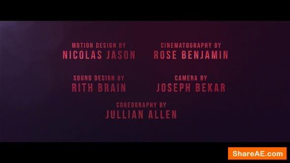 Videohive Cine Credit V.2