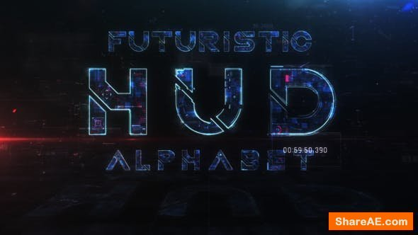 Videohive Futuristic HUD Alphabet