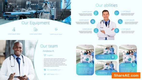 Videohive Medical Center Presentation + 50 Animated Icons