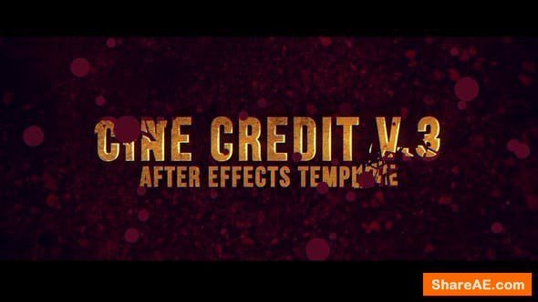 Videohive Cine Credit V.3
