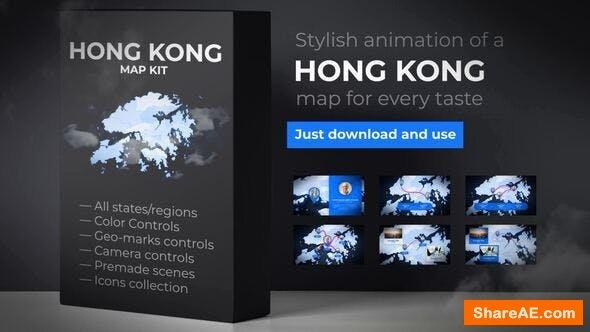 Videohive Hong Kong Animated Map - Hong Kong Region of the Peoples Republic of China 24304594