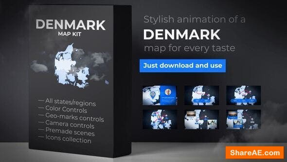 Videohive Denmark Map - Kingdom of Denmark Map Kit
