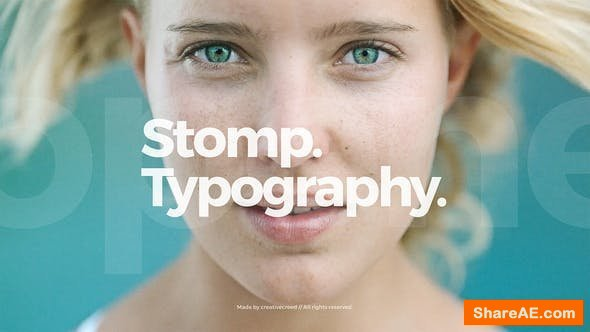 Videohive Stomp Opener / Clean Typography / Event Promo / Dynamic Slideshow
