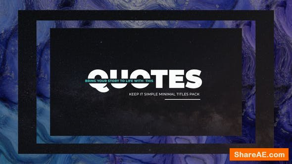 Videohive Simply Quotes