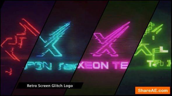 Videohive Retro Screen Glitch Logo